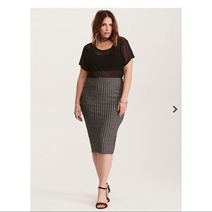 TORRID Women's Silver Pencil Skirt